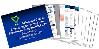 Colorectal Cancer Education, Screening and Prevention Program (CCESP): Empowering Communities for Life Thumbnail